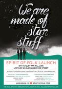 'WE ARE MADE OF STAR STUFF' - SPIRIT OF FOLK 2014 LAUNCH NIGHT