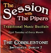 Session with the Pipers Michael O'Connell (uilleann pipes)  Ben Lennon (fiddle)  Brian Lennon (flute)  Seamus Quinn (piano)  Íde Nic Mhathúna (songs)
