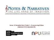 Notes and Narratives