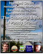 "Handed Down "" The changing styles of Paddy Cronin"""