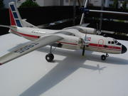 Cubana Antonov factory made AN-24 1:50 scale heavy dry wood display Model