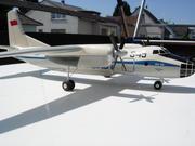 Antonov factory made Aeroflot AN-30 1:50 scale heavy dry wood display Model