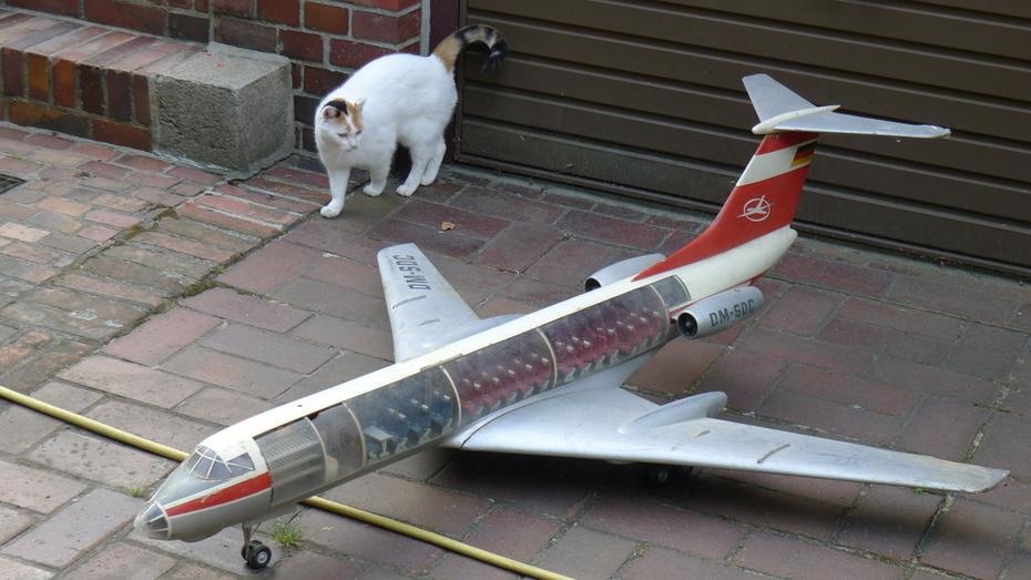 Interflug TU-134 1:24 scale Cutaway Display Model before Restoration