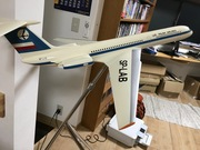 LOT Polish Airlines IL-62 1:50 scale Die-Cast Display Model after Restoration