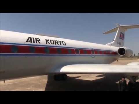 THE SIGHT & THE SOUND 5/12 : Air Koryo TU-134B P-814 inflight documentary from Sondok to Pyongyang