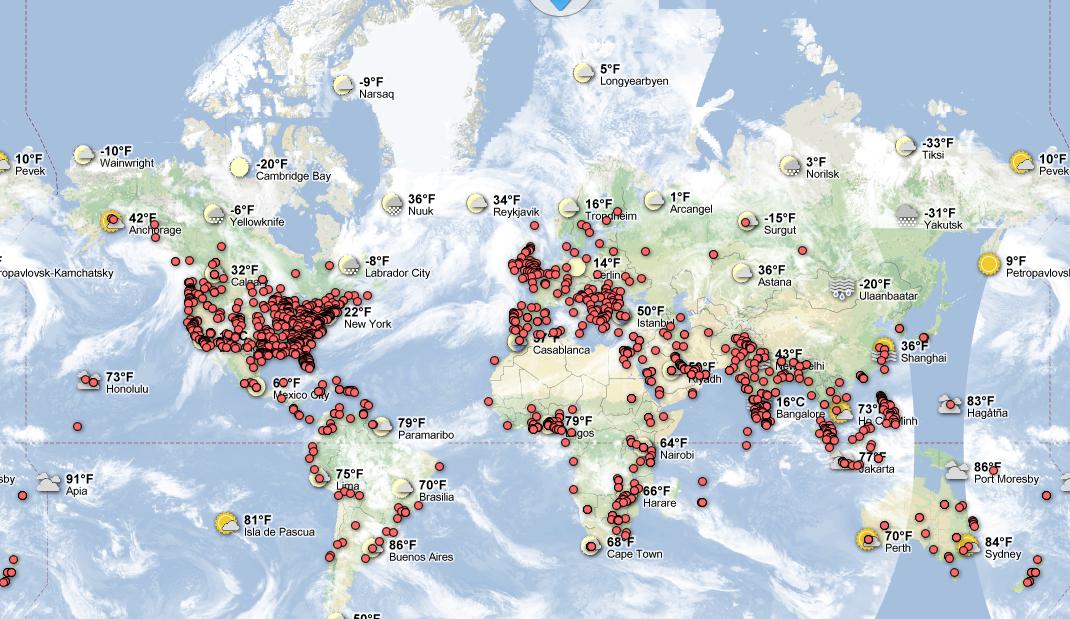 Surveying Weather Map