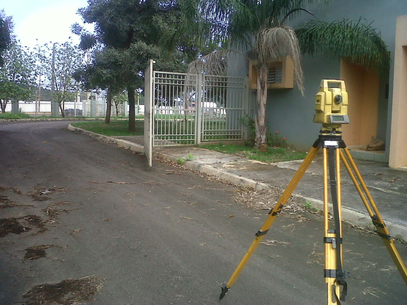 Surveying a school for new storm sewer-1