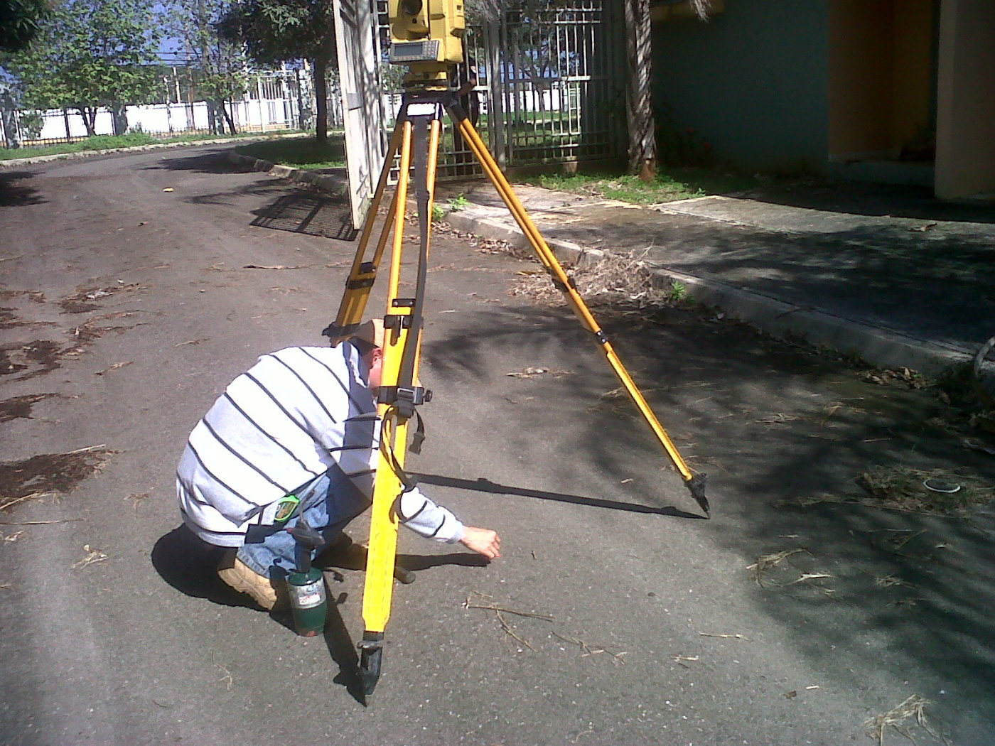 Setting up application of FREE sample of Survey Crew's paint
