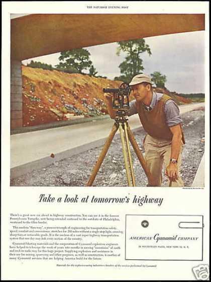 Surveyor Transit Photo American Cyanamid Co (1950)