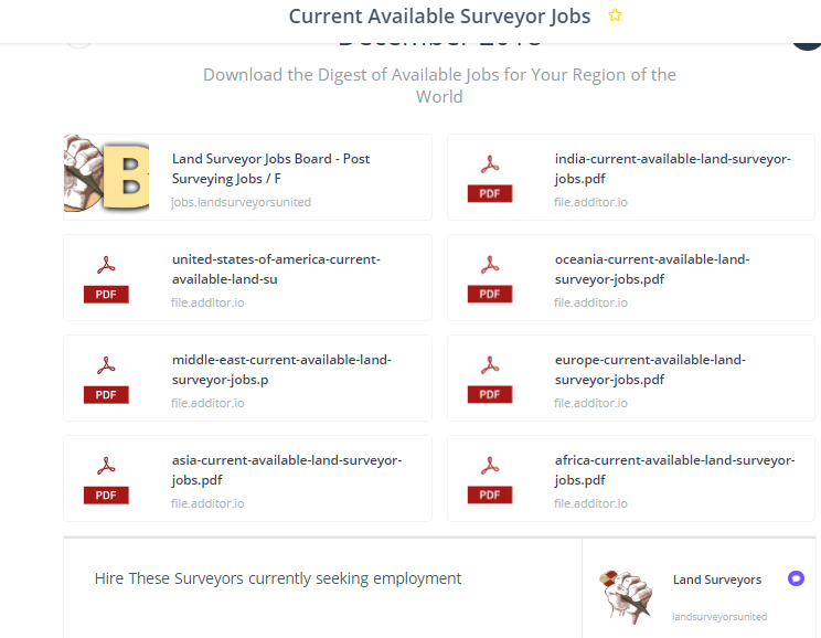 View All Surveying Jobs