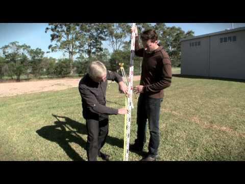 Surveying 2 - Taking a level reading - OTEN Building & Construction