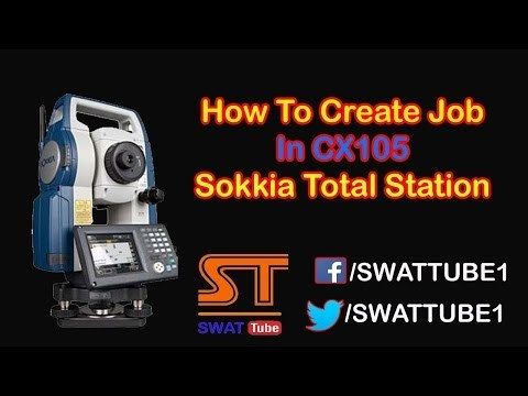 How To Create Job In CX105 Sokkia Total Station 2017 Urdu/Hindi