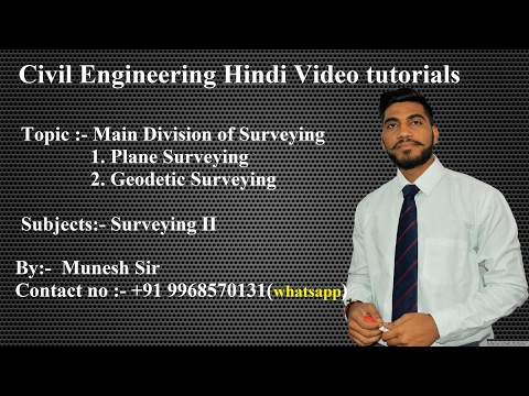 Main Division of Surveying |civil engineering video tutorials| part 3