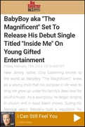 99.5 FM  BIG COUNTRY FT. BABYBOY MAGNIFICENT   https://www.bigcountry995.com/story/39972386/babyboy-aka-the-magnificent-set-to-release-his-debut-single-titled-inside-me-on-young-gifted-entertainment