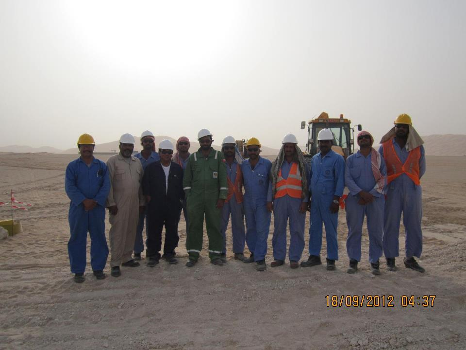 On the site for Gas line in Oman