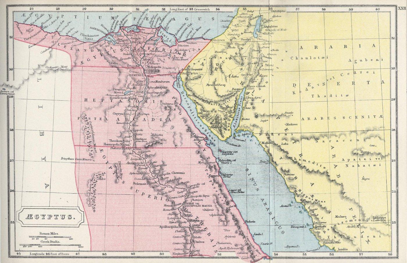 Map of Aegyptus