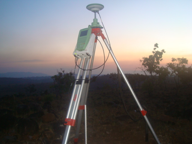Measurements GPS with GX1220 LEICA.