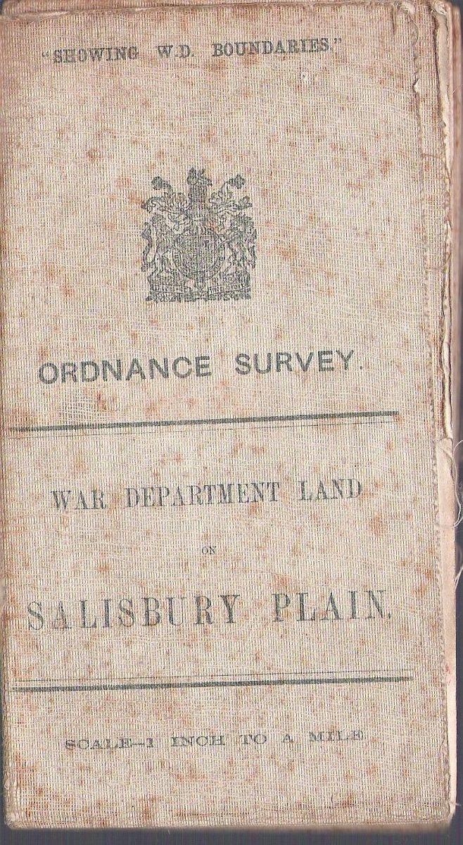ORDNANCE SURVEY WAR DEPARTMENT LAND MAP 1912