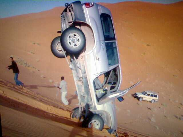 Accident in the sand dunes