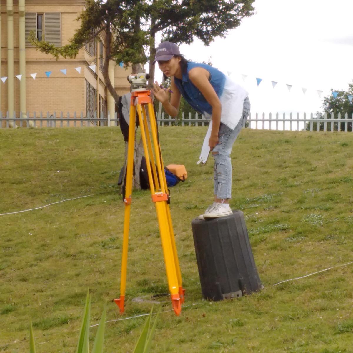 student improvising