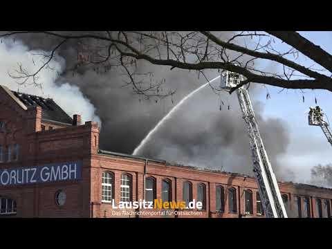 Goerlitz - Großbrand in Gewerbebetrieb