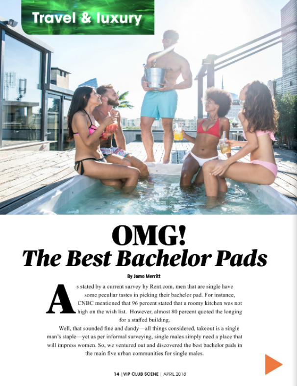 OMG! The Best Bachelor Pads