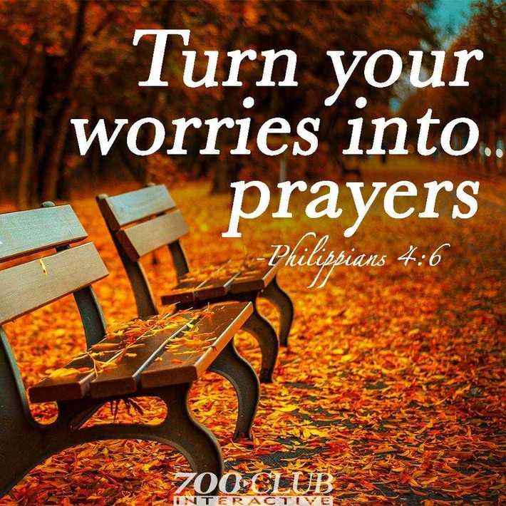 transformez vos soucis en prière