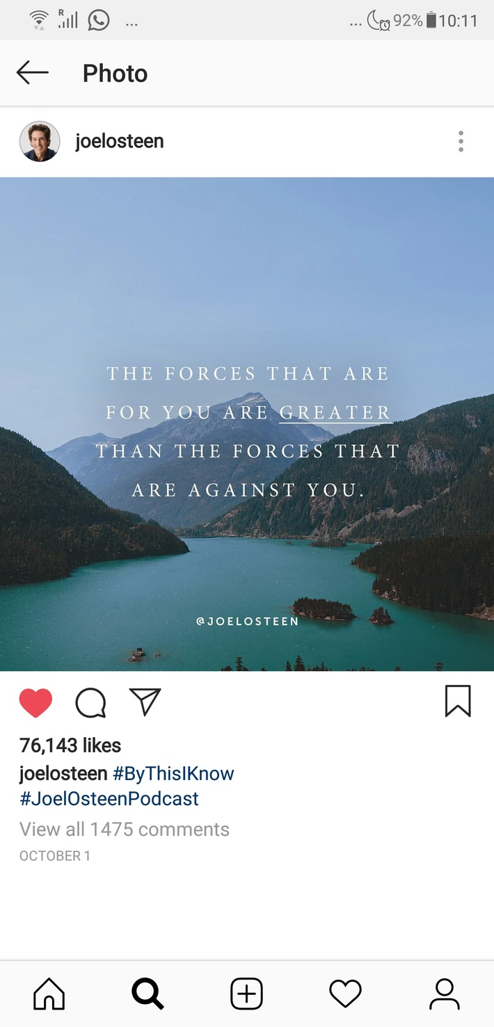 The forces for you are greater.