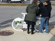 Ghost Bike Installation Ceremony for Raul Ortiz-Gomez 10-20-18