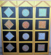 Stained Glass Windows Triptych
