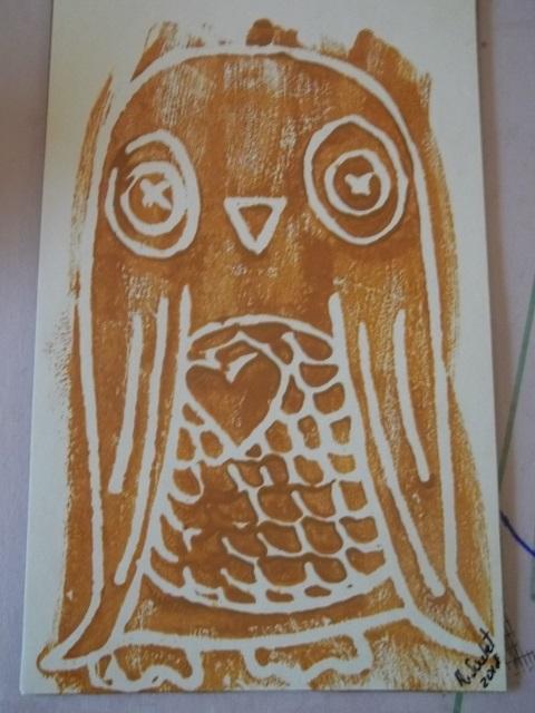 Owl Print For James B Chester