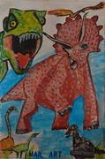 envie a Claudio Romeo a Jurassic Mail art