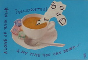 I send mail art tea of course