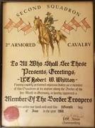 2d Squadron, 2d ACR Border Certificate, 1968
