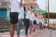 Yoga Surya Namaskar in Rishikesh India