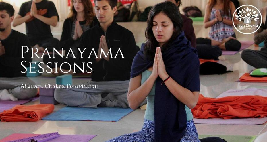 Pranayama Session in Rishikesh India