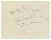 All The Best! To Adam signed Paul McCartney