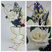 taarttopper bloemen koud porselein