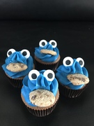Cookiemonster cupcakes