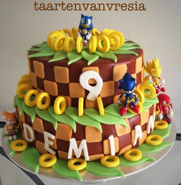 Sonic de egel taart