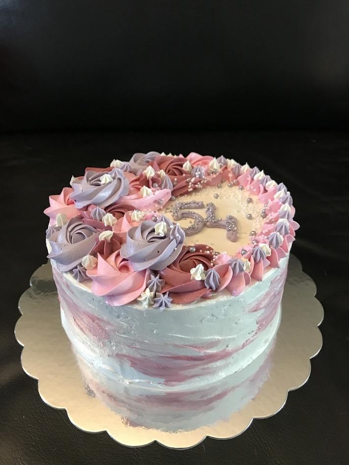Red Velvet Rozetten taart