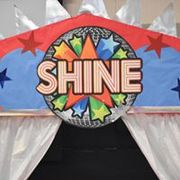 Our 70's themed VBS stage