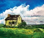 "12""x18"" Vineyard Cabin: Oil on Canvas"