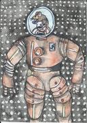 Flying Boxer Dog Monster Art (2)