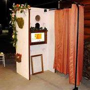 Our Chameleon BOHO wedding Interchangeable Photo Booth Rental
