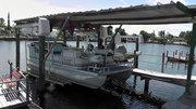 The pontoon boat we always travel in..