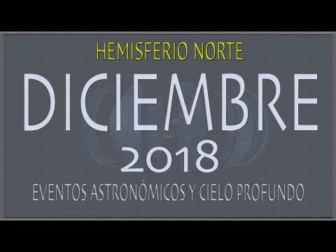 CIELO DE DICIEMBRE 2018. HEMISFERIO NORTE