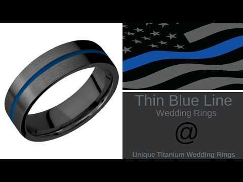 Thin Blue Line Wedding Rings