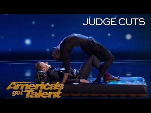 Troy James: Contortionist Terrifies Guest Judge Chris Hardwick - America's Got Talent 2018