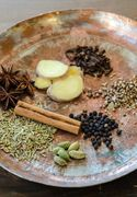 Fresh spices and ginger root